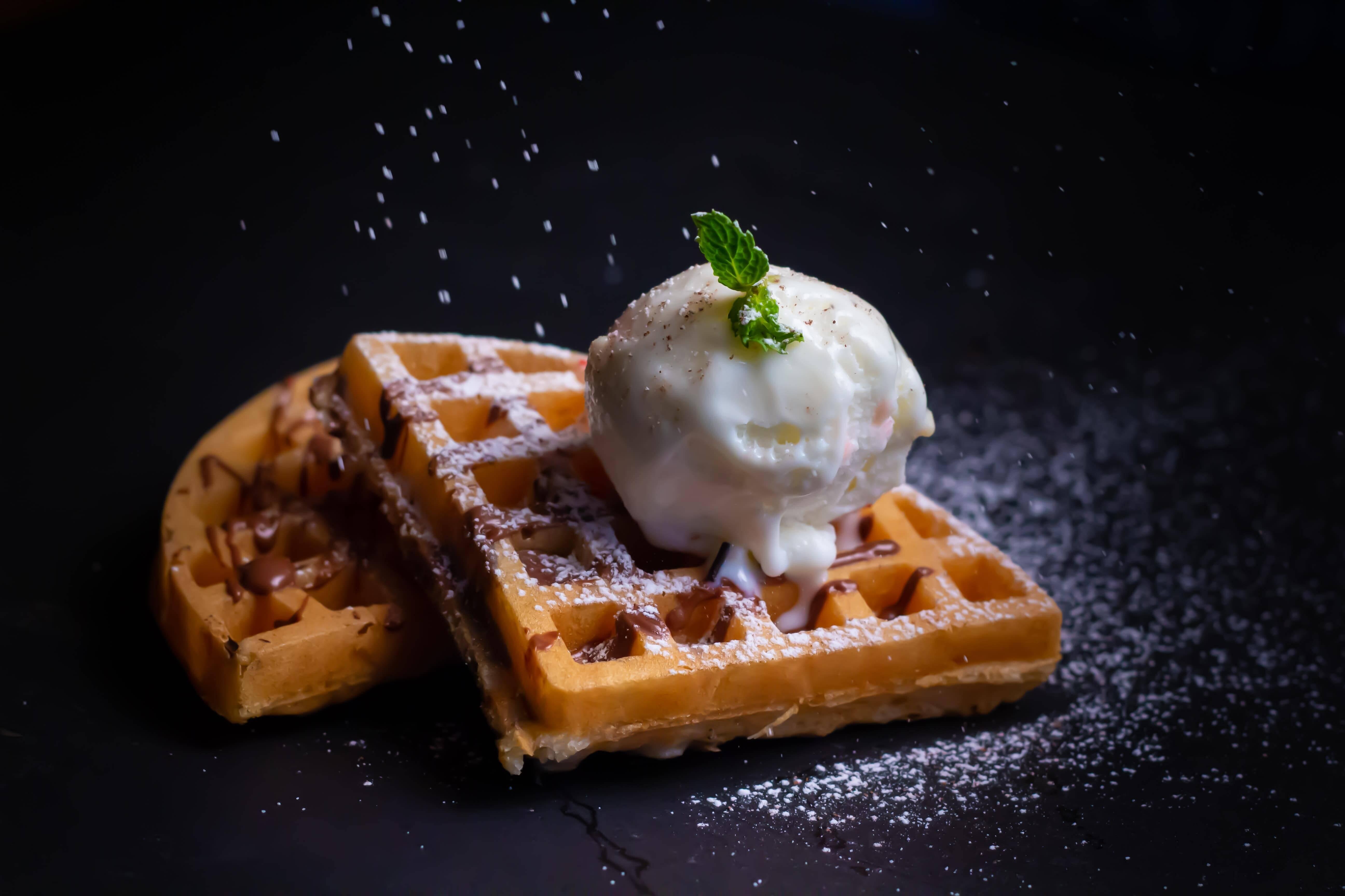 tost makinesinde waffle yapimi