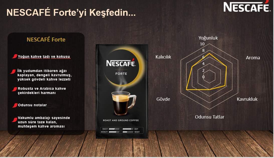 nescafe forte filtre kahve